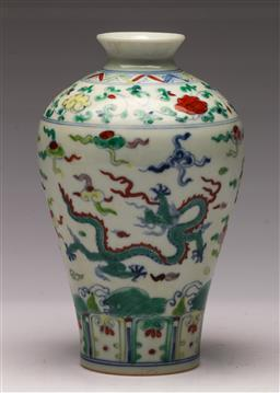 Sale 9119 - Lot 144 - A Meiping shaped famille Chinese vase H:19cm