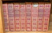 Sale 8308A - Lot 136 - Eight matching volumes of vintage red cloth bound volumes, including authors such as Wilde, Burton and Emmerson
