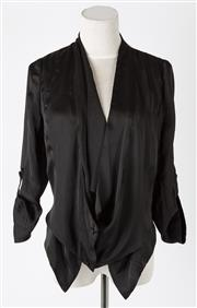 Sale 8541A - Lot 56 - An Alexander McQueen soft black evening jacket, size 42