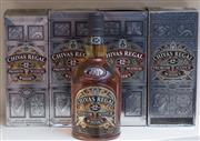 Sale 8593A - Lot 69 - Four bottles of Chivas Regal 12 year old scotch whiskey, unopened in boxes, (3 x 1L, 1 x 700ml)