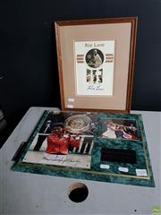 Sale 8609 - Lot 2100 - Rod Laver Signed Print Together with Evonne Goolagong Cawley Framed Example (2)
