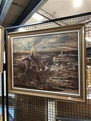 Sale 8816 - Lot 2018 - F. Hearn - The Round Up oil on board, 67 x 82cm (frame) signed lower left