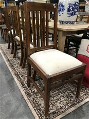Sale 8889 - Lot 1372 - Set of Eight Timber Dining Chairs with Upholstered Seat