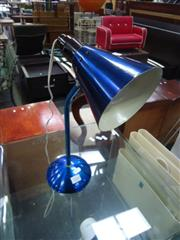 Sale 7969A - Lot 1065 - Blue Enamelled Australian Table Lamp with Stamp to Base