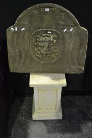 Sale 8058 - Lot 1005 - Stone Plinth and Headstone