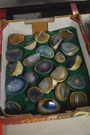 Sale 8189 - Lot 2105 - Tray Of Polished Agate