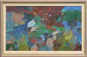 Sale 8259 - Lot 508 - Nancy Borlase (1914 - 2006) - Cremorne Point, 1986 40 x 75.5cm