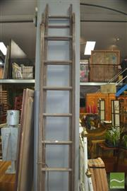 Sale 8331 - Lot 1351 - Timber Extension Ladder