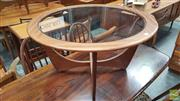 Sale 8383 - Lot 1035 - G-Plan Atmos Round Teak Coffee Table with Glass Top