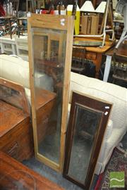 Sale 8431 - Lot 1066 - Two Timber Framed Rectangular Mirrors