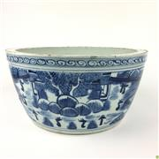 Sale 8562R - Lot 119 - Chinese Blue and White Ceramic Jardiniere (D: 29cm)