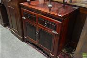 Sale 8566 - Lot 1686 - Oriental Two Drawer Two Door Chest