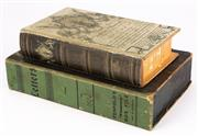 Sale 8890T - Lot 48 - A faux timber storage box didguised as a book, together with similar marked Letters by penfolds, circa 1930s