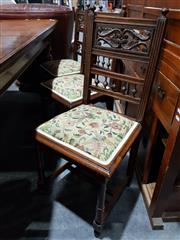 Sale 8760 - Lot 1066 - Set of Six Late Victorian Dining Chairs