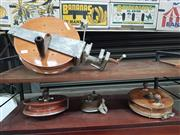 Sale 8872 - Lot 1045 - Collection of Four Large Fishing Reels incl. Alvery