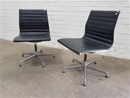 Sale 9134 - Lot 1051 - Pair of Aluminium Group chairs by Eames (h:84 x w:50 x d:50cm)