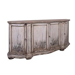 Sale 9245T - Lot 58 - A French country design reclaimed timber sideboard in weathered white, top in natural light finish, features four lockable doors, on...