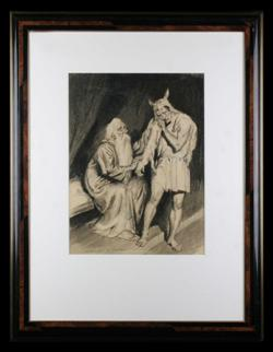 Sale 7923 - Lot 591 - Norman Lindsay - Jacob and Esau 40 x 30cm