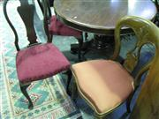 Sale 7937A - Lot 1156A - Pair of Queen Anne Style Slat Back Chairs with 2 Balloon Back Chairs (4)