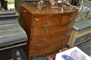 Sale 7981A - Lot 1062 - Regency Mahogany Bow Front Chest of Five Drawers
