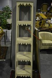 Sale 8058 - Lot 1070 - White Painted 5 Tier Stand