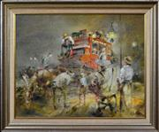 Sale 8316 - Lot 548 - Patrick Kilvington (1922 - 1990) - Th Going Away of Johnny 59 x 74.5cm