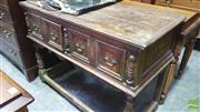 Sale 8375 - Lot 1091 - Rustic Oak Buffet, with two drawers