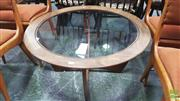 Sale 8383 - Lot 1032 - G-Plan Atmos Round Teak Coffee Table with Glass Top