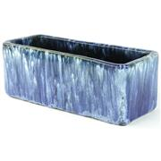 Sale 8399 - Lot 64 - John Campbell Blue Drip Glaze Trough Vase