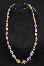 Sale 8396A - Lot 3 - Murano Glass Millefiori Necklace