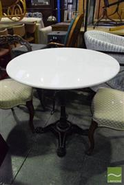Sale 8545 - Lot 1064 - Snow White Marble Top Table (80cm Diameter)