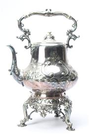 Sale 8670 - Lot 289 - Silver Plated Teapot on Stand