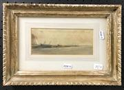 Sale 8949 - Lot 2074 - Cleaning the Hull Watercolour 7.5x18cm
