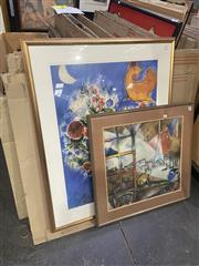 Sale 9087 - Lot 2046 - Marc Chagall (two works) decorative prints,
