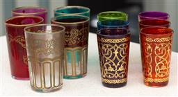 Sale 9162H - Lot 27 - A collection of Morrocan tumblers in various colours