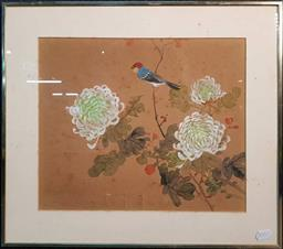 Sale 9208 - Lot 2055 - Pair of Chinese Gouache Still Life Paintings on silk