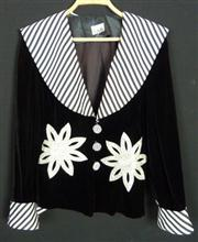 Sale 7982B - Lot 124 - Black velvet and sequinned jacket by TNB (M)