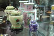 Sale 8151 - Lot 46 - Cloisonne Vase on Stand with Another & a Chinese Vase