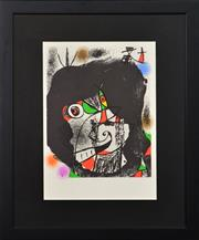Sale 8282A - Lot 78 - Joan Miro (1893 - 1983) - Revolution I 36.5 x 25.5cm