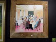 Sale 8468 - Lot 2022 - Jill Dingley (XX) - The Ladies Who Lunch, 1995 60.5 x 61cm