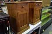 Sale 8566 - Lot 1569 - Pair of Bedsides with One Drawer and One Door