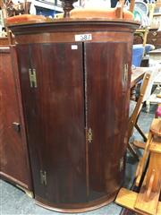 Sale 8740 - Lot 1667 - Bow Front Corner Cabinet