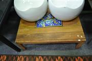 Sale 8115 - Lot 1443 - Timber Coffee Table w Tiled Top
