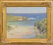 Sale 8254 - Lot 599 - Charles Wheeler (1881 - 1977) - Port Campbell 28.5 x 39cm