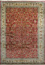 Sale 8370C - Lot 62 - Superfine Kashmiri Silk 190cm x 270cm