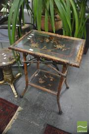 Sale 8406 - Lot 1186 - Tiger Cane Occasional Table