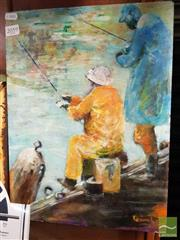 Sale 8471 - Lot 2067 - Jill Dingley (XX) - Fisherman, 1995 40.5 x 30.5cm