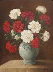 Sale 8606 - Lot 550 - Albert Sherman (1882 - 1971) - Still Life of Flowers 48 x 34.5cm