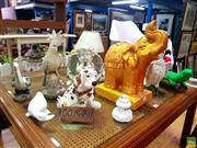 Sale 8648 - Lot 1081 - Collection of Various Animal Figures incl. Kookaburra, Cockatoos, Cherubs etc
