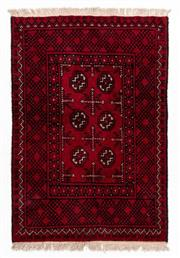 Sale 8800C - Lot 195 - An Afghan Tekke Hand Knotted Wool Rug, In A Hardy Weave Of Camel Foot Design, 77 x 113cm